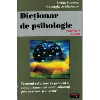 Dictionar de psihologie vol. IV litera C