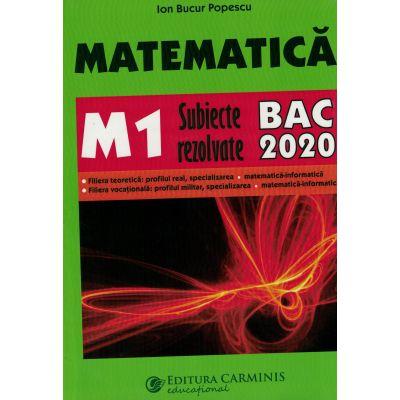 Matematica M1 BAC 2020 - Subiecte rezolvate