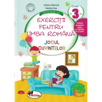 Culegere de exercitii pentru limba romana JOCUL CUVINTELOR. Clasa a III-a